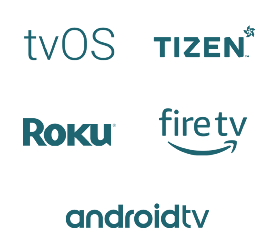 tvOS, Fire TV, Roku, Android TV, and Tizen development